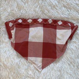 Urban Outfitters Red/white bandeau bikini top